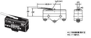 X 外形尺寸 30 X-10GL-B_Dim