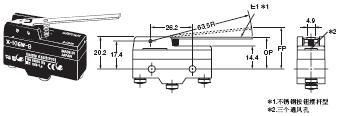 X 外形尺寸 38 X-10GW-B_Dim
