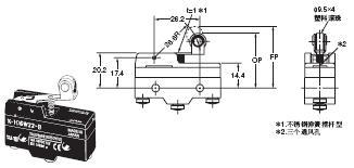 X 外形尺寸 42 X-10GW22-B_Dim
