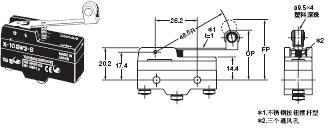 X 外形尺寸 44 X-10GW2-B_Dim