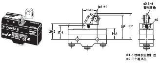 X 外形尺寸 48 X-10GM22-B_Dim